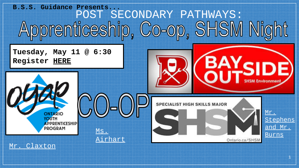 Apprenticeship Co op Night